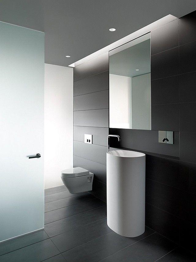 Idées de carrés de mur pour la salle de bains, déco des ...