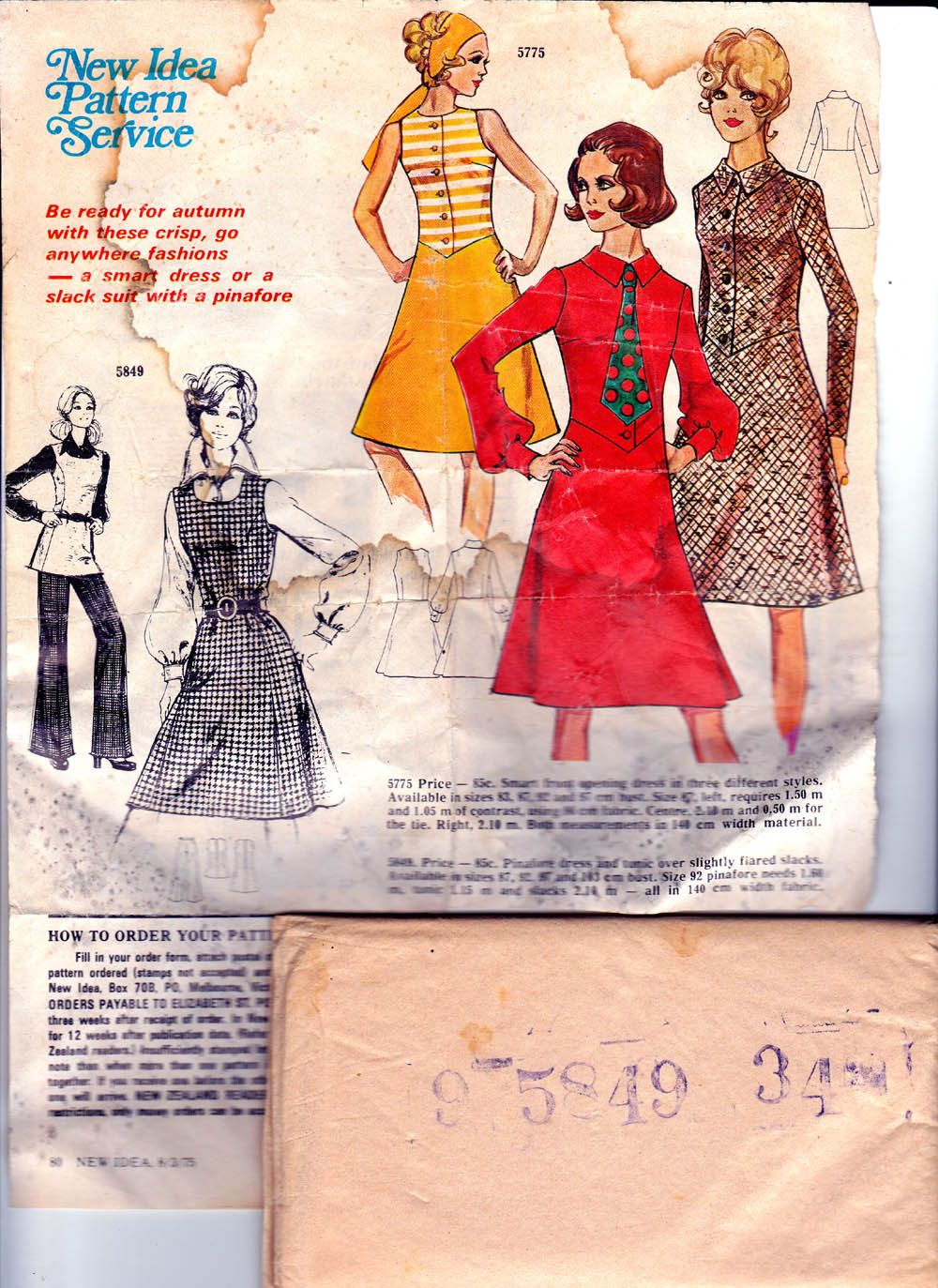 S jumper and pants pattern mail order tunic top pinafore and