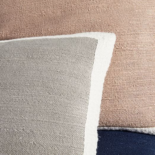 Textured Border Pillow Covers Pillow Covers Neutral