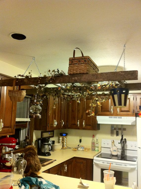 Ladder Hanging From The Ceiling Weirdly I Like This Idea Western Home Decor Primitive Decorating Country Primitive Decorating