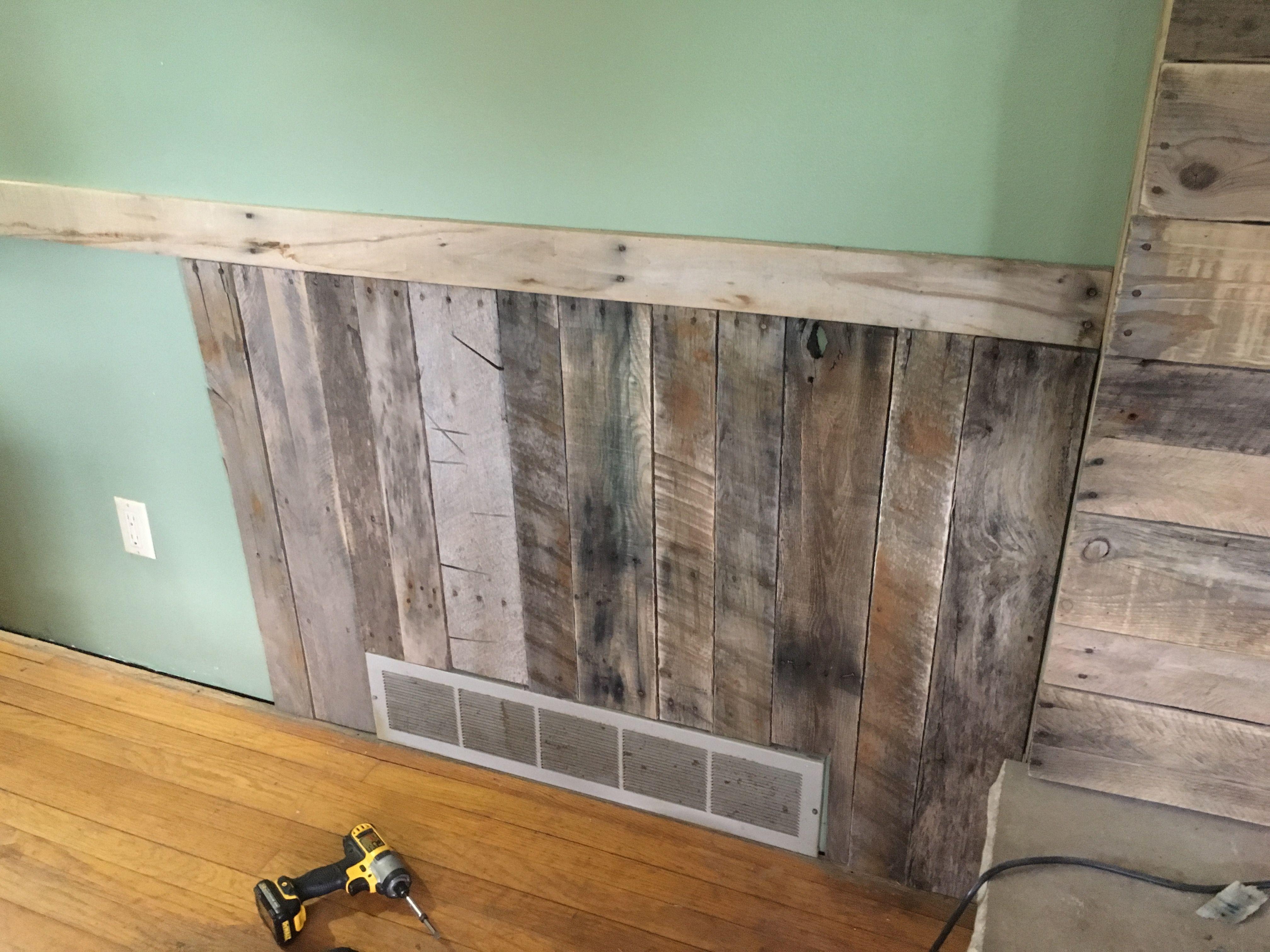 Wayne S Coating With Pallets Renovation Home Decor
