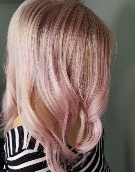 Rose Gold Haarfarbe Ideen Gold Haarfarbe Rose Haarfarbe