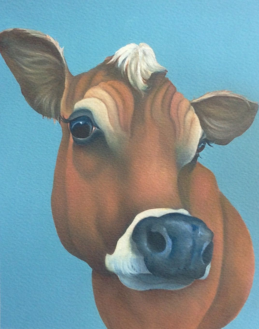 Clover The Jersey Cow Painting Animal Paintings Cow Painting Animal Art