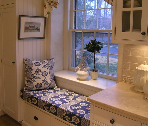 Kitchen Window With Ledge: Kitchen Window Seat. Love The Extra-wide Window Sill, But
