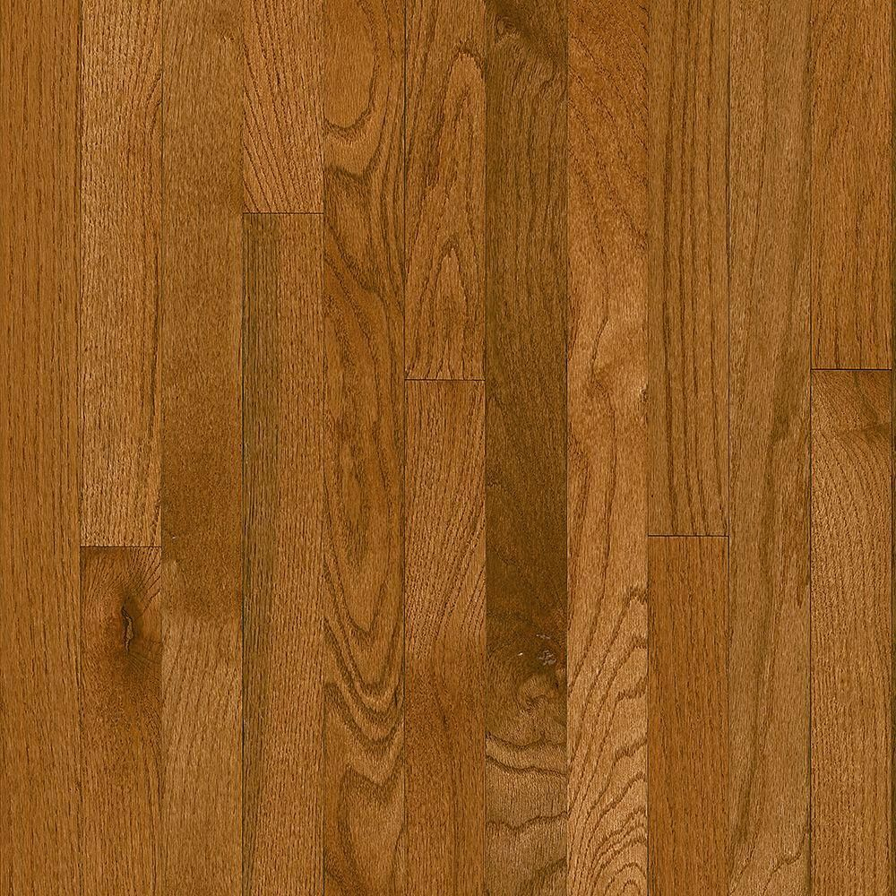 Bruce Plano Oak Gunstock 3 4 In Thick X 2 1 4 In Wide X Varying Length Solid Hardwood Flooring 20 Sq Ft Hardwood Floors Hardwood Wood Floors Wide Plank