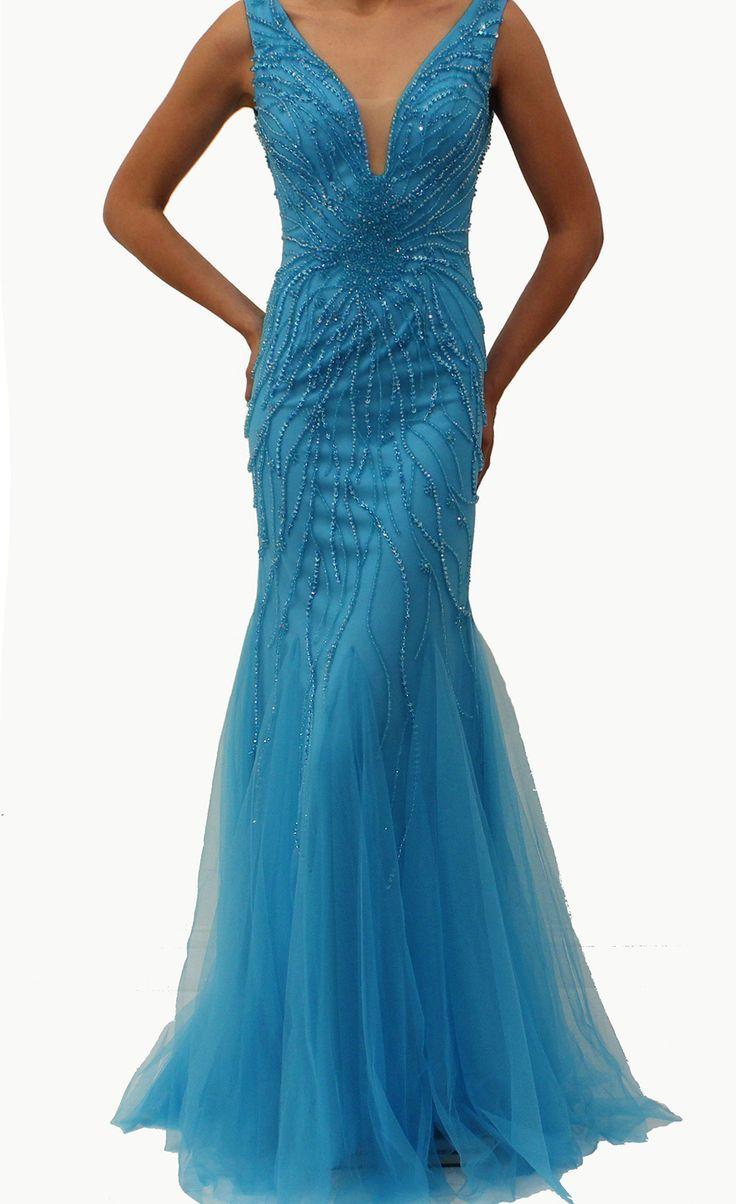 Jovani 22495-Turqouise | fashion | Pinterest | Blue dresses, Gowns ...