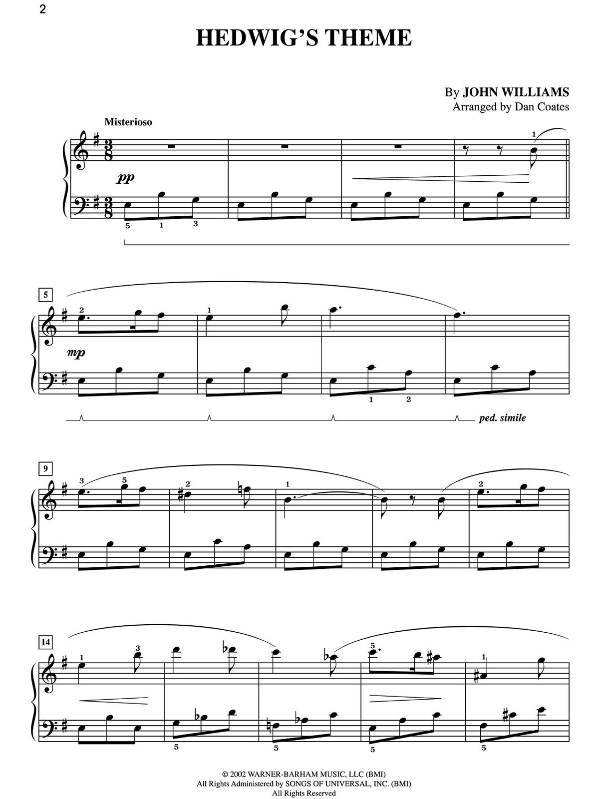 photograph relating to Harry Potter Theme Song Piano Sheet Music Printable Free identify Hedwigs Concept sheet songs for my neice Harry Potter