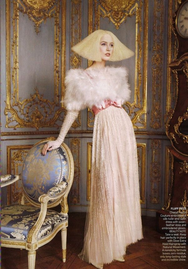 Vogue September 09' by Grace Coddington, shot in the Grand Trianon in Versailles, France. xx