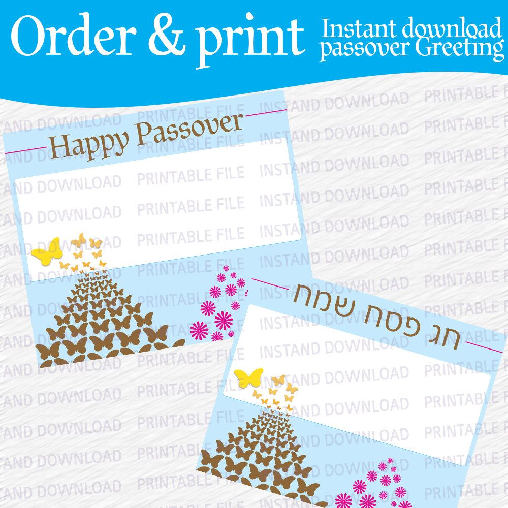 Passover pesach hebrew and english printable greeting tag card passover pesach hebrew and english printable greeting tag card sticker instant download 3 1 m4hsunfo