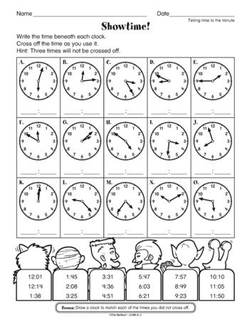 A goblin themed math worksheet for practicing telling time to five a goblin themed math worksheet for practicing telling time to five minutes perfect for october add to a halloween freetime packet themailbox ibookread Read Online