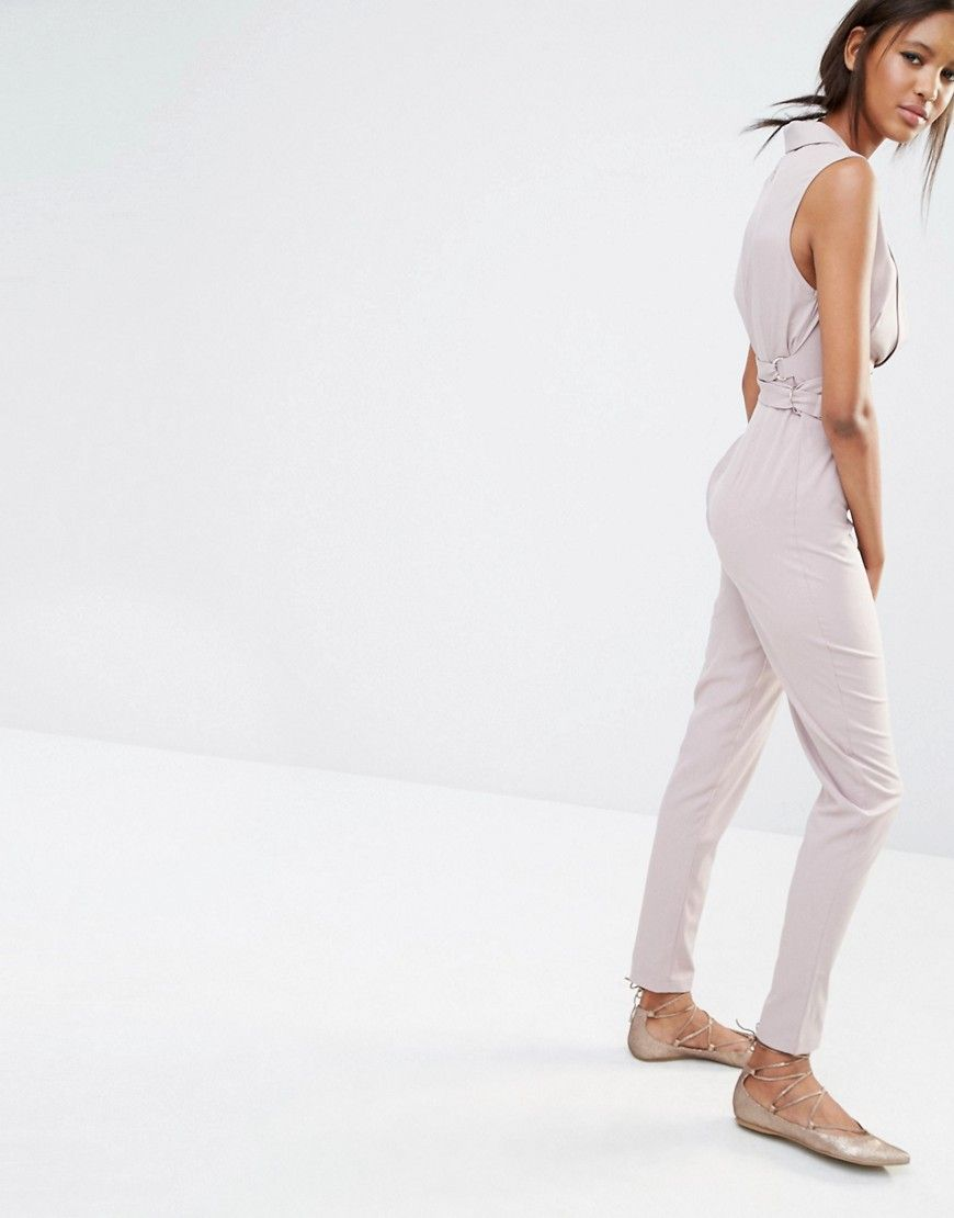 Image 2 Of Missguided Tall Tailored Tux Jumpsuit Tall Girl Shop