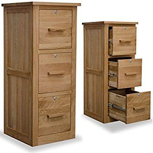 Arden Solid Oak Furniture Three Drawer Lockable Filing Cabinet Co Uk Kitchen Home