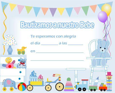 Ideas para bautismo: tarjetas para imprimir | Bebé, Duchas y Baby ...