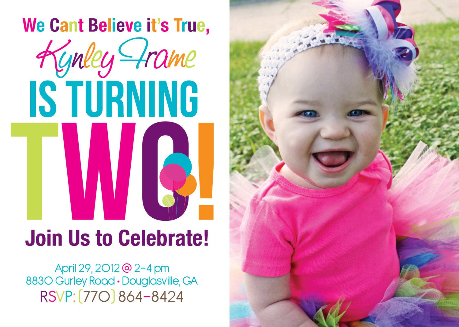 Best Tips Easy to Create 2nd Birthday Invitations Free Templates ...