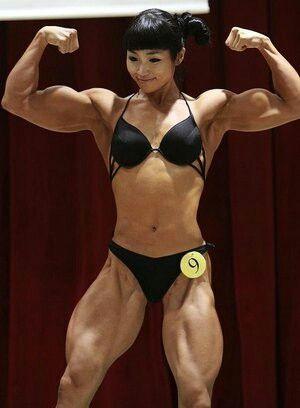 Muscular asian gitls