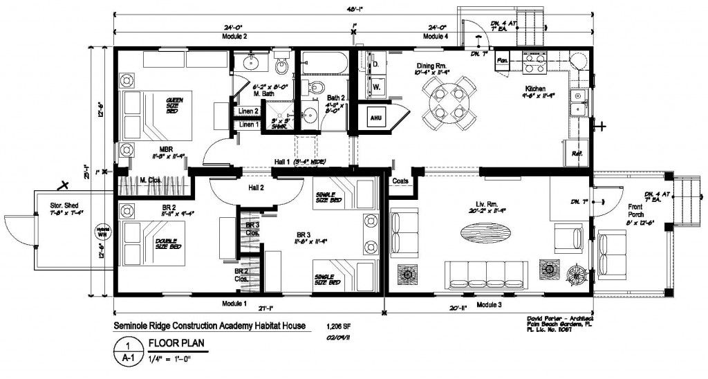Habitat For Humanity House Plans Plan Seminole Ridge Construction Academy Habitat For Humanit Habitat For Humanity Houses Floor Plans House Floor Plans