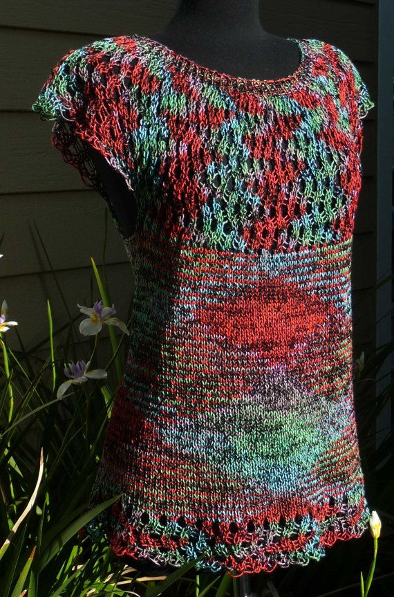 Ripple Top - Machine Knit Pattern | Loom Knitting | Pinterest ...