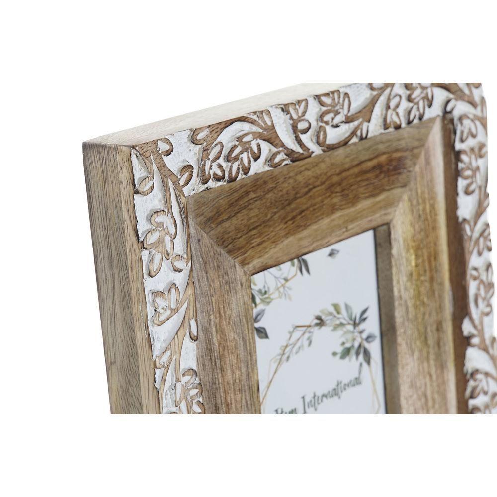 Photo frame DKD Home Decor Crystal Mango wood Cottage (21 x 2.5 x 26.5 cm)