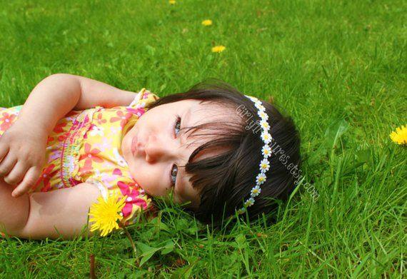 Flower Crown Headband. Baby Flower Crown Headband. Photo Prop. Newborn Headband. Toddler Headband #crownheadband
