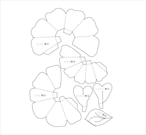 Template Printable Giant Paper Flower Flower Templates Printable Paper Flower Template Paper Rose Template