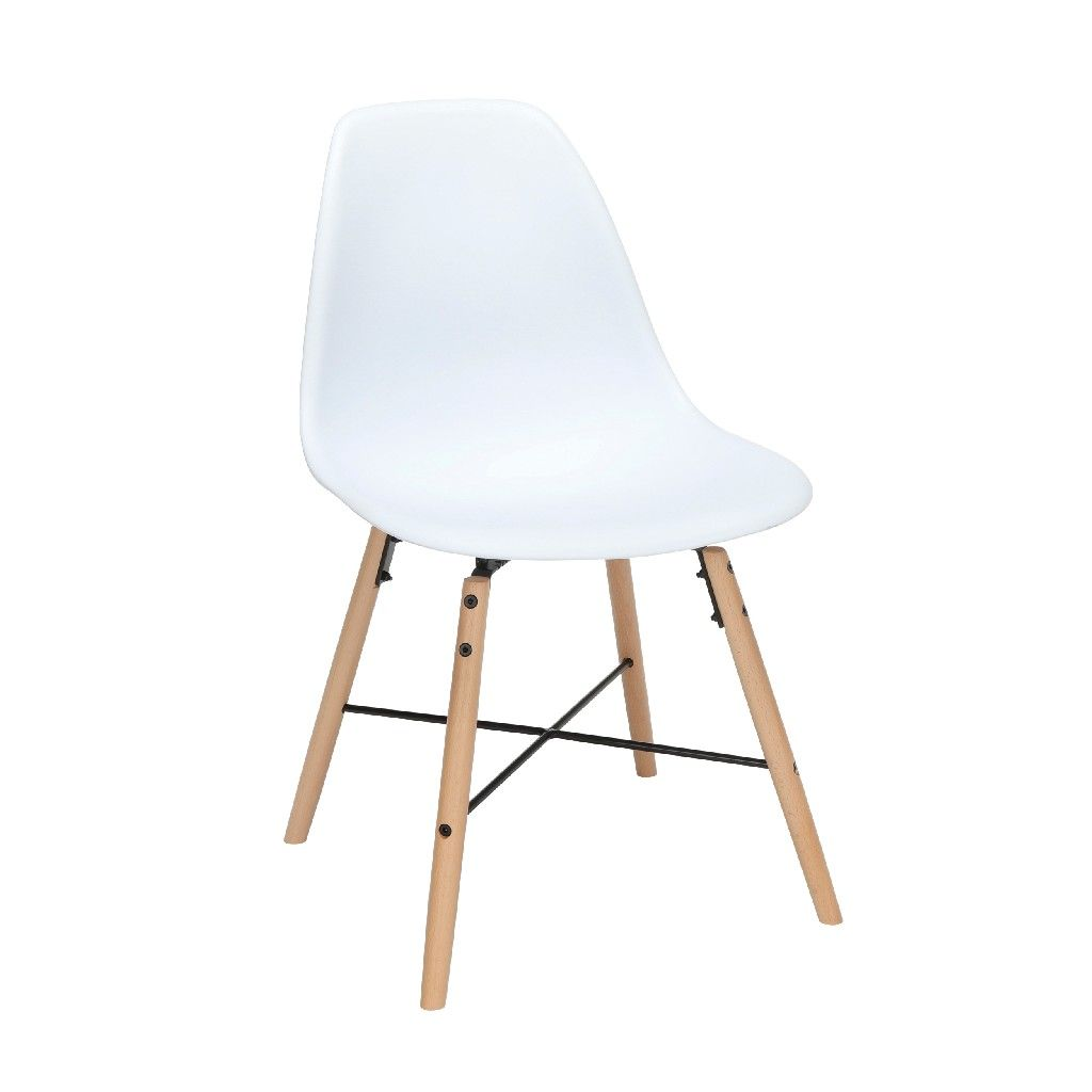 White Plastic Dining Chair 4pk Ofm 161 P18a Wht 4 In 2020