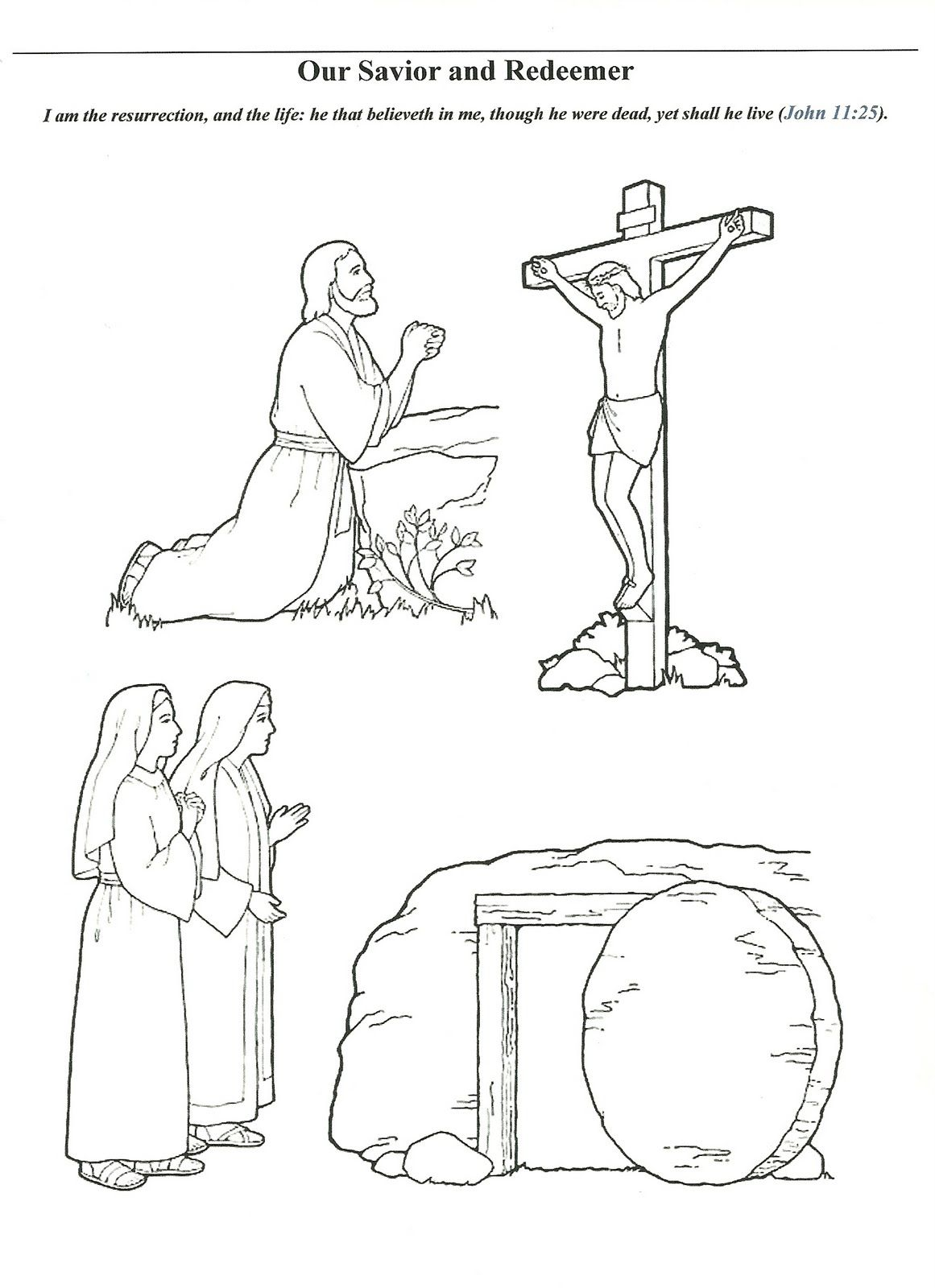 Happy Clean Living Primary 3 Lesson 22 Lds Easter Lesson Easter Colouring Easter Coloring Pages
