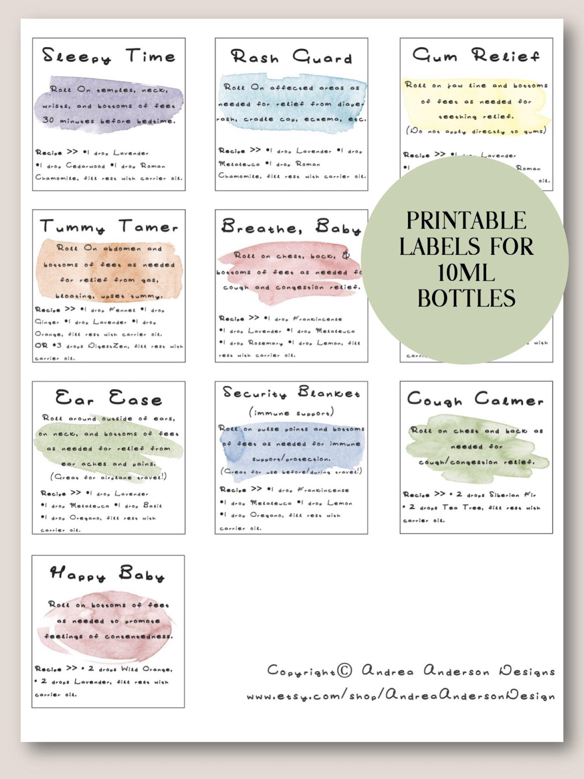 Doterra Baby Blends Printable Roller Bottle Labels Doterra Label Essential Oil Label Diy Essential Oil Gift 10ml Roller Bottle Labels In 2020 Essential Oils For Babies Essential Oil Labels Essential Oil