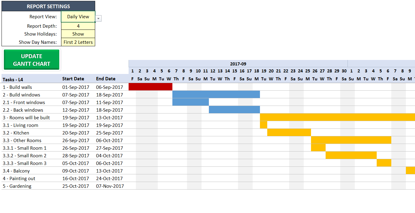 Excel Gantt Chart Maker Template  Easily Create Your Gantt Chart