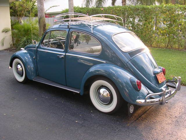1965 Vw Beetle Smoothies White Walls Roof Rack Vw Beetle Classic Volkswagen Beetle Vw Beetles