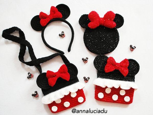 Crochet Minnie Mouse Pack | crochet accesories | Pinterest ...