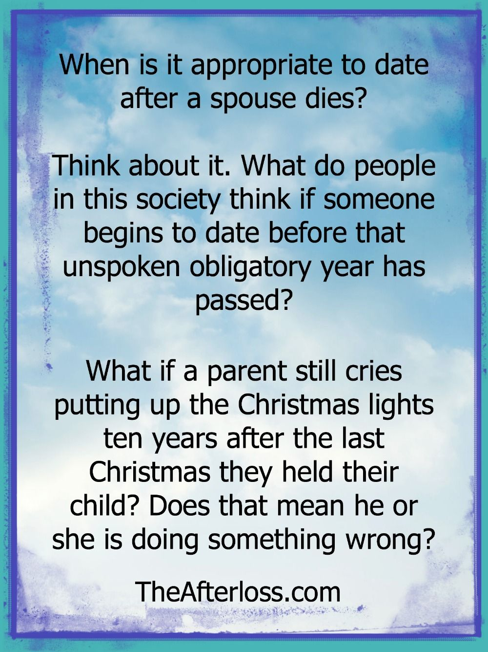 How long should you wait before dating after death of spouse