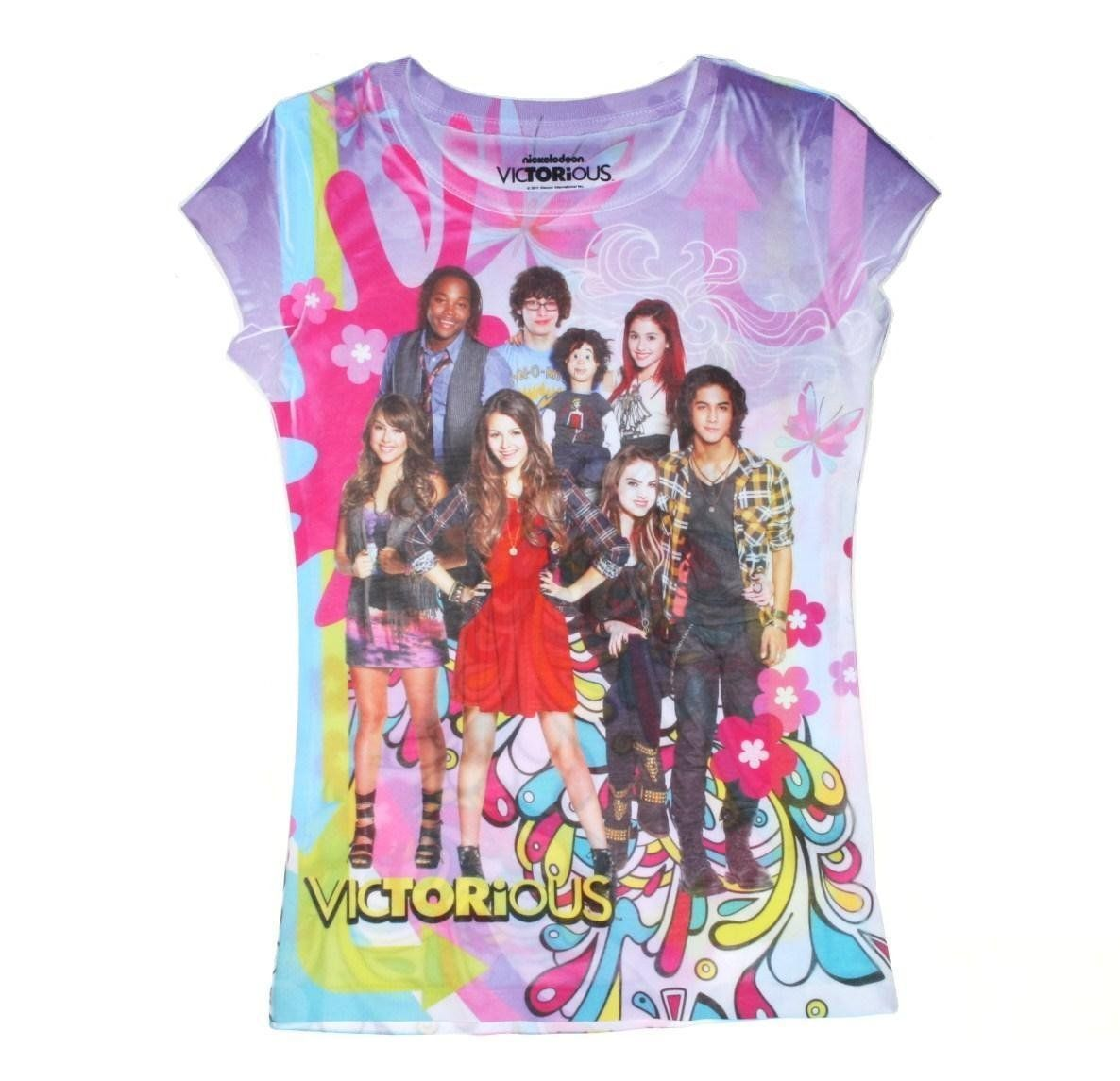 Victorious Multi-Colored Girls Character T-shirts