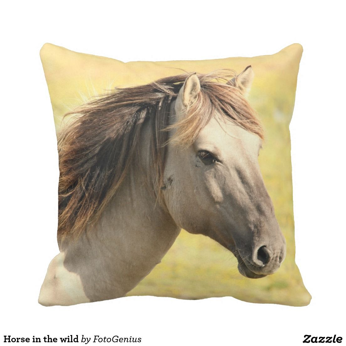 Beauty Grooming Journalist Of The Year: Horse In The Wild Throw Pillow