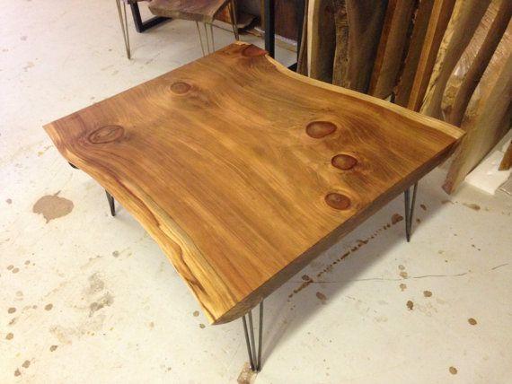 live edge coffee table - live edge table - redwood coffee table