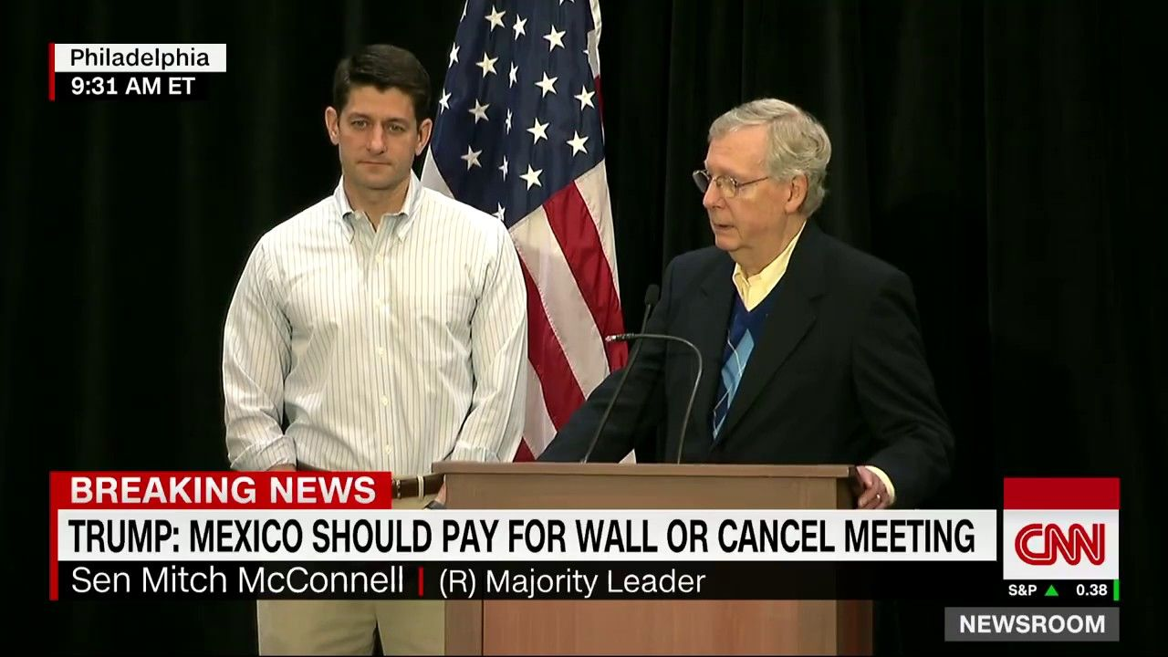 McConnell:Mexico Border wall will cost $12B-$15B