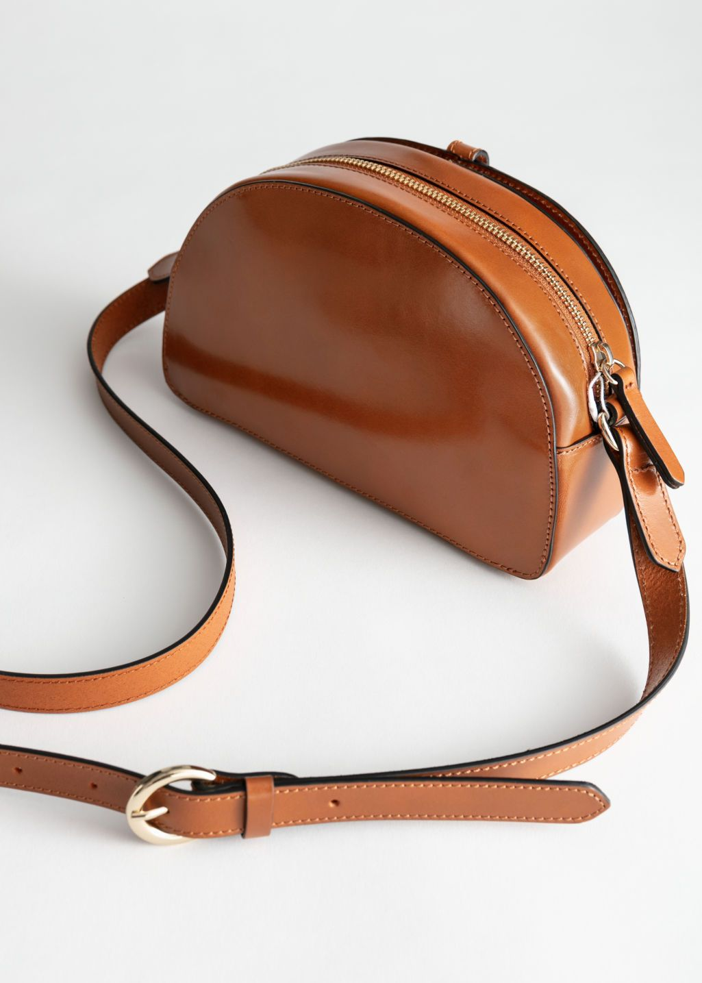Photo of Leather Half Moon Crossbody Bag