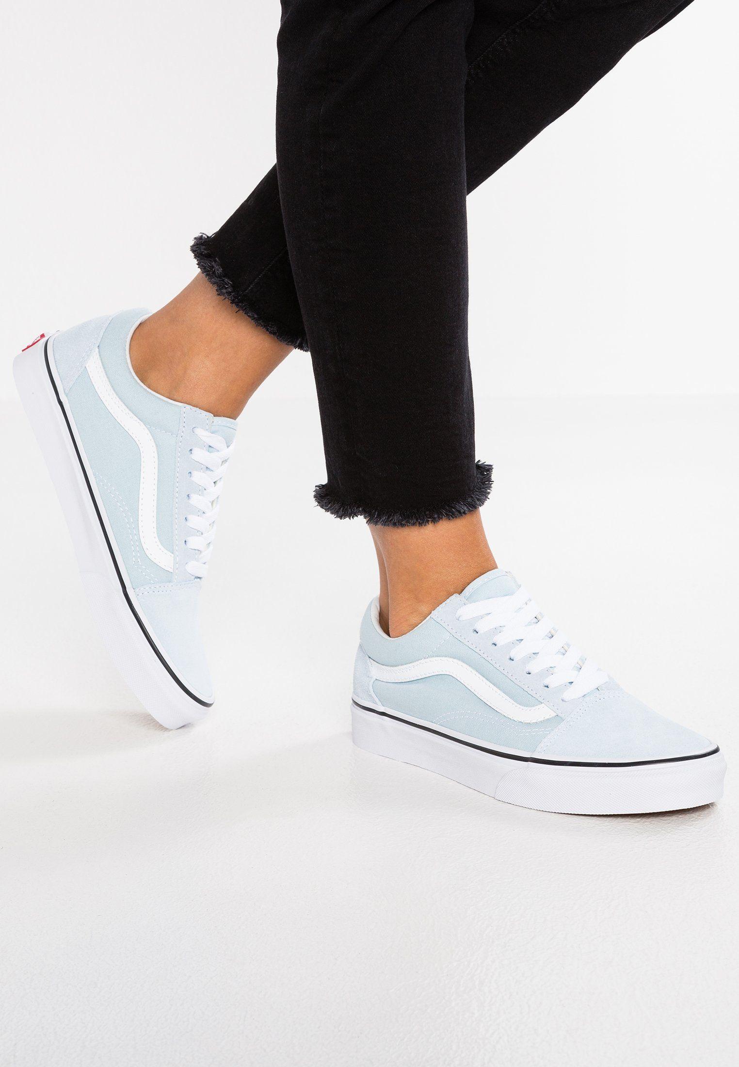 Vans Old Skool Sneaker Low Baby Blue True White Zalando De Sneakers Trendy Shoes Baby Blue Outfit