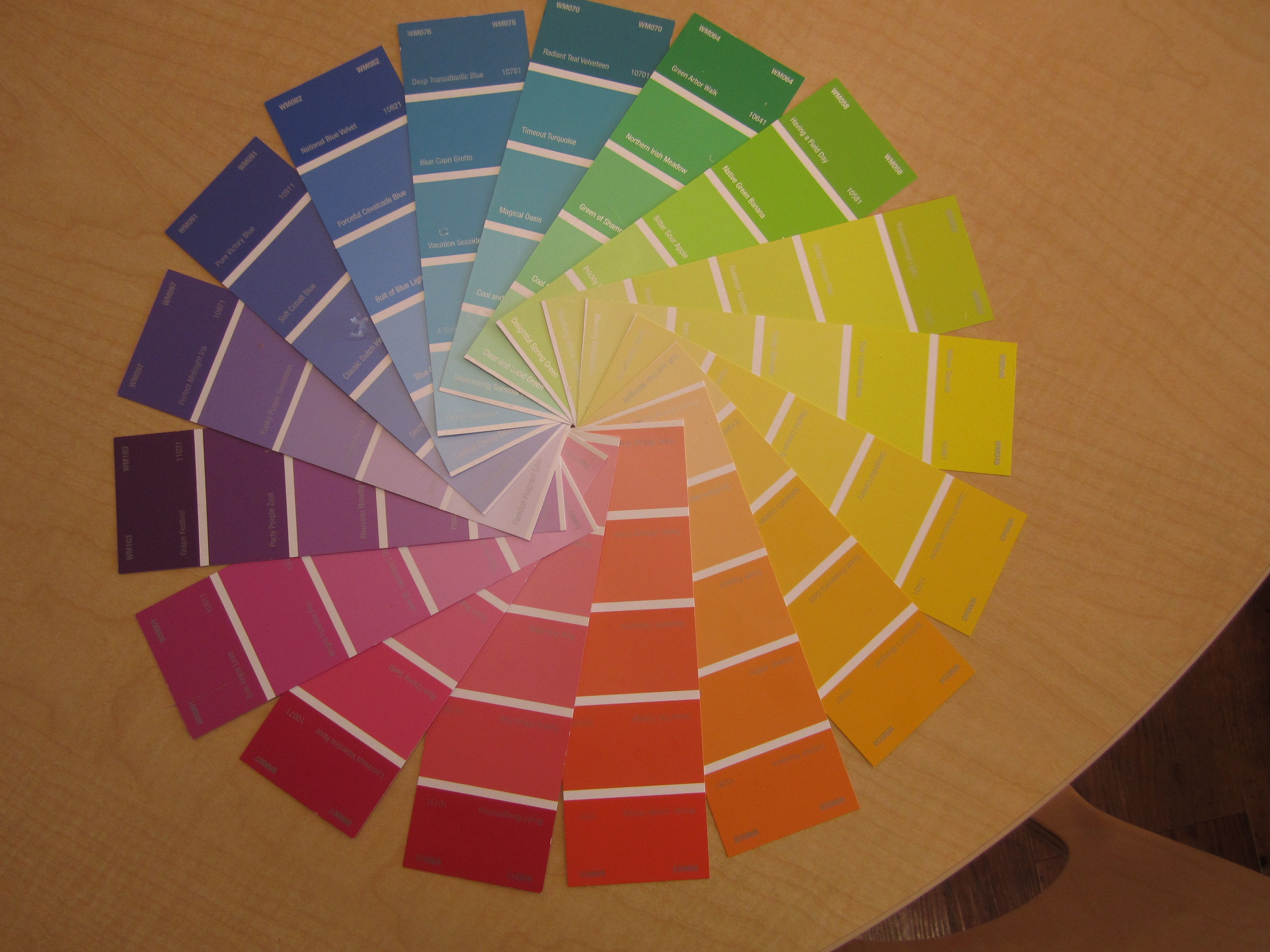 Paint Sample Color Wheel I Added The Names Red Orange Yellow