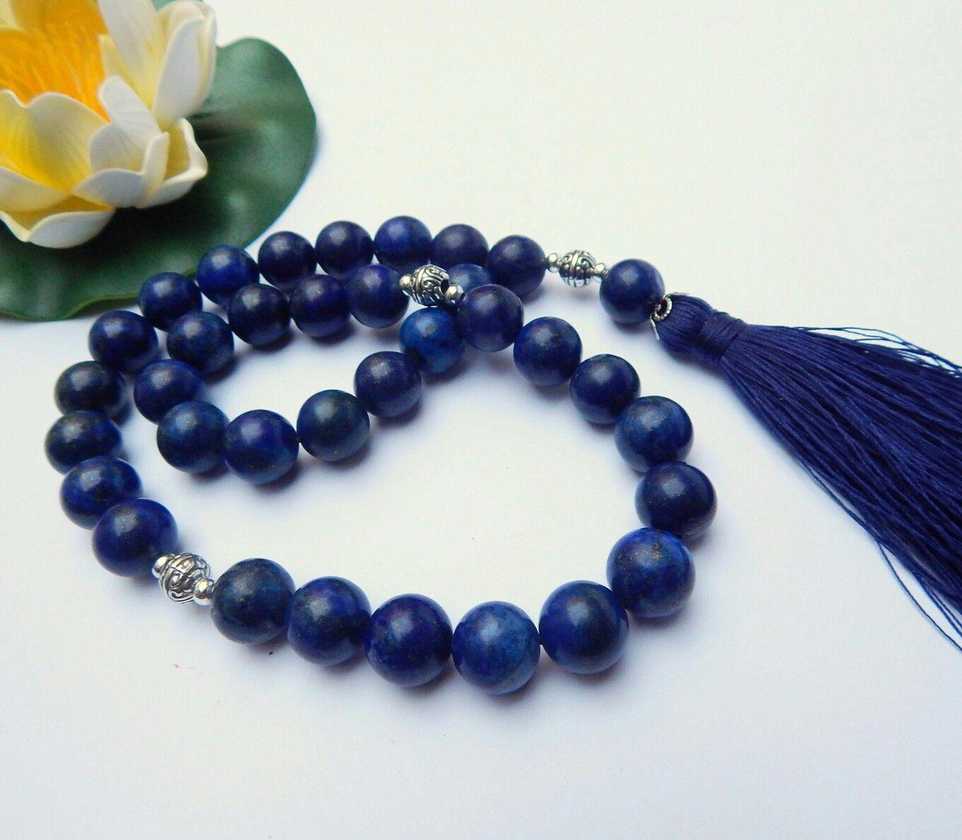 Prayer beads lapis lazuli 12mm