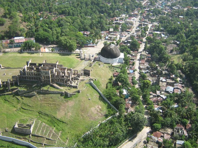 Palace San-Souci and the town of Milot in Cap-Haitian, North of Haiti.