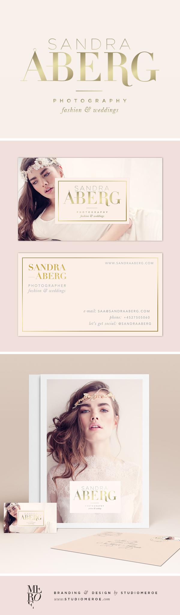 Branding for sandra aberg wedding fashion photographer feminine branding for sandra aberg wedding fashion photographer feminine logo business card design and other marketing materials designed by studiomeroe colourmoves