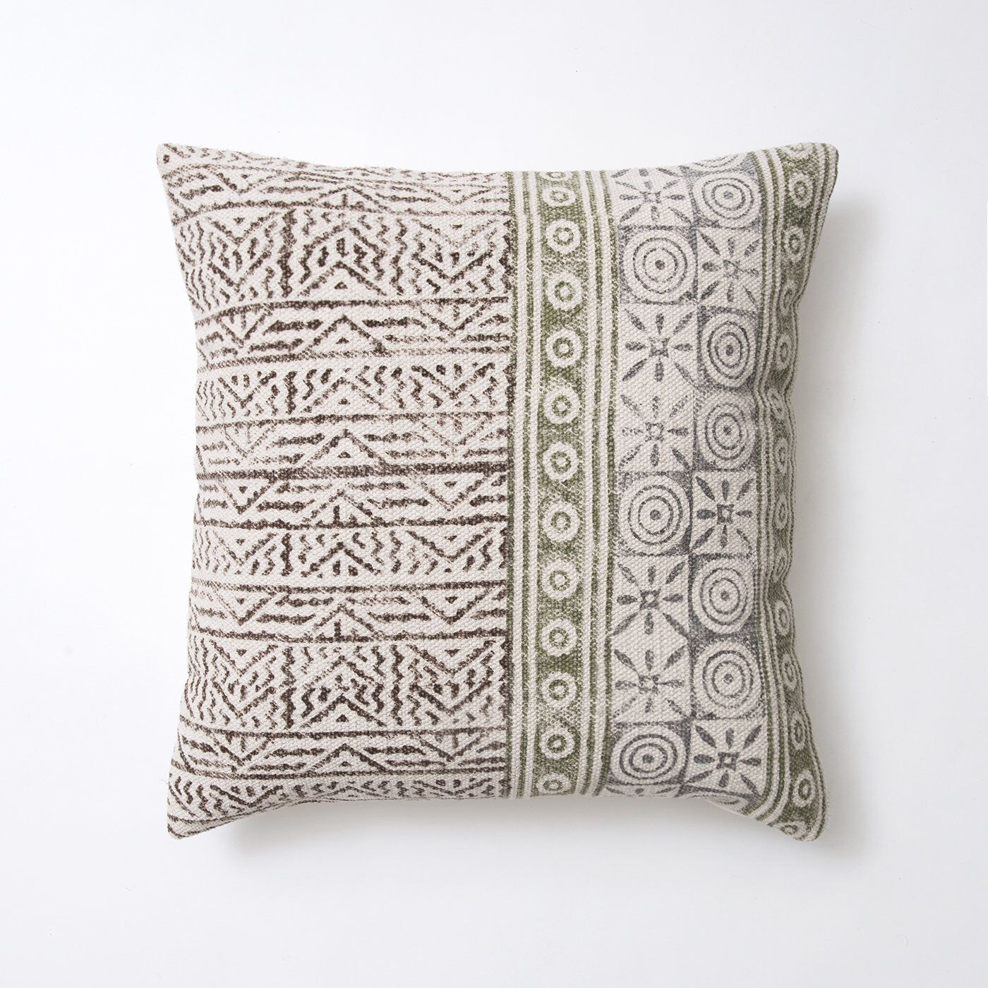 Handmade Indian Cotton Dhurrie 20 X 20 Throw Etsy Rustic Pillows Printed Cushion Covers Printed Cushions