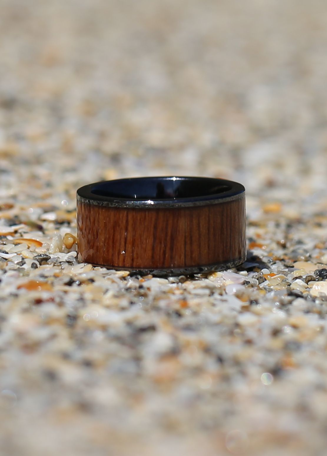 men from ring pympqt product teak mosaic wood oak walnut grain inlay stainless tree titanium rings acacia steel black