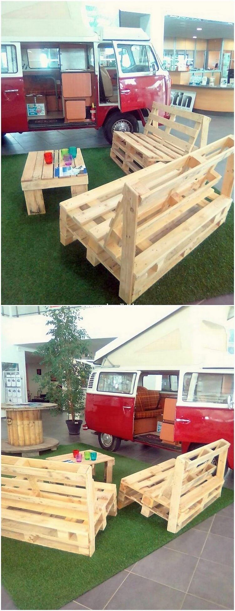Diy recycled and reused wood pallet projects pallet furniture