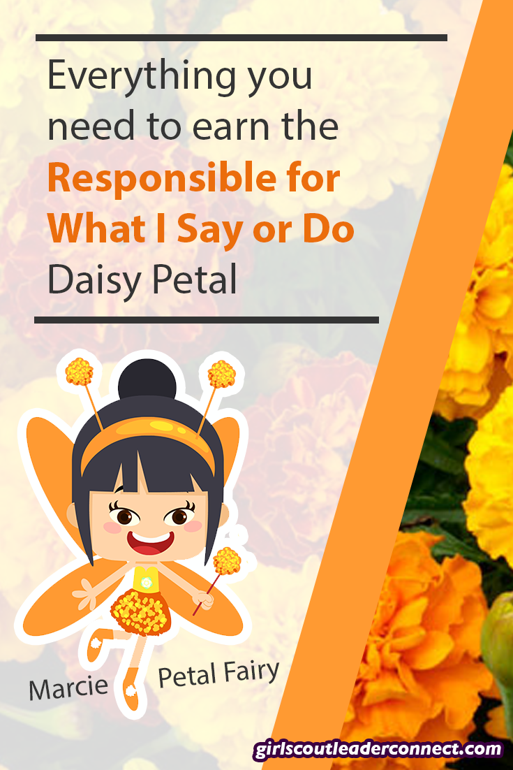 5 Fun Ways To Earn The Daisy Responsible For What I Say And Do Petal