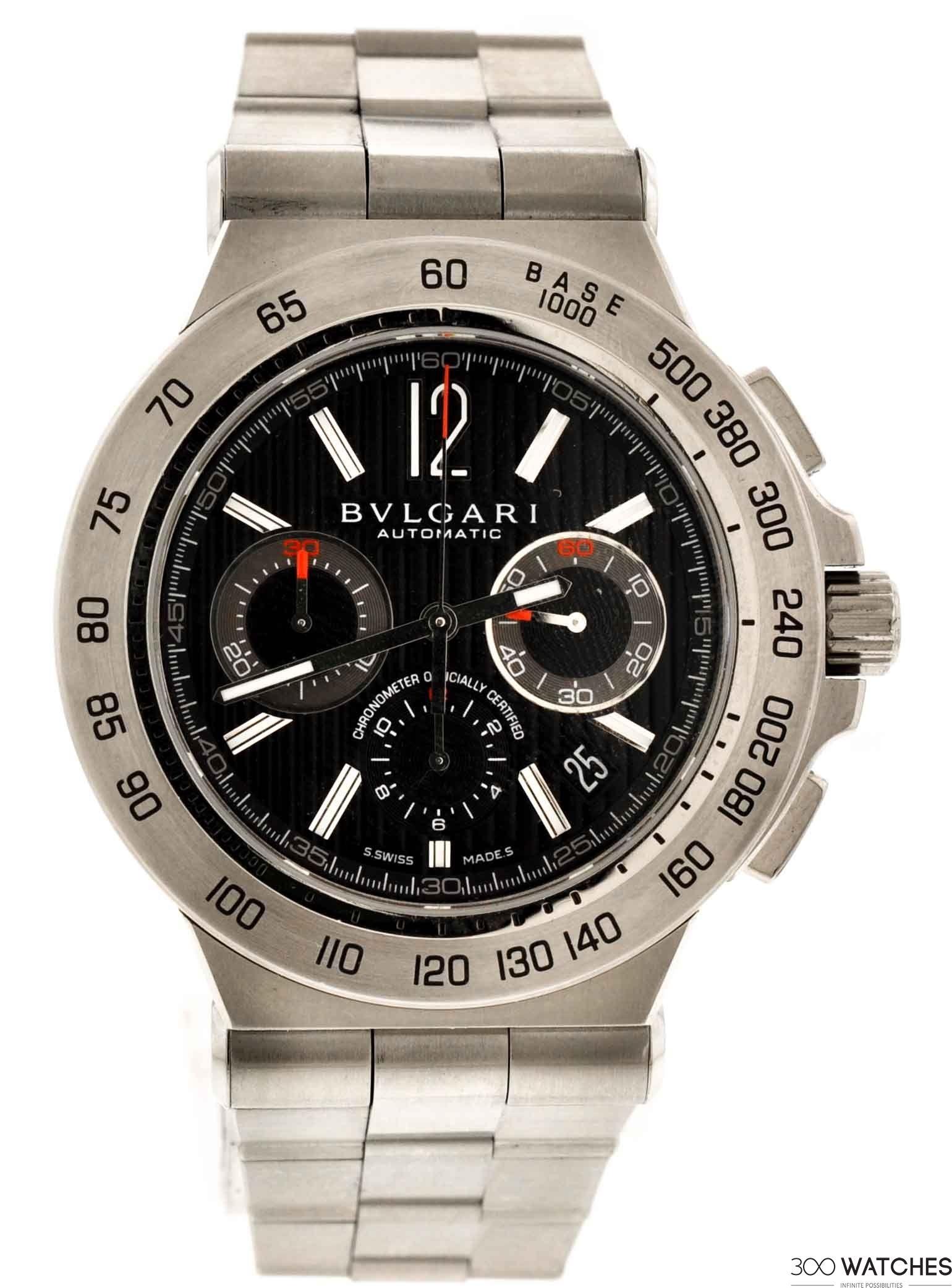 557f02c9755 Bvlgari Diagono DP42SCH Pro Terra Automatic Chronograph Watch ...