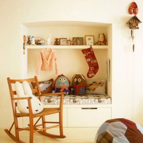Schon Schaukelstuhl Dekokissen Ideen Für Leseecke Im Kinderzimmer Einrichten