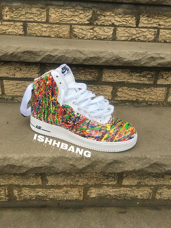 62dd586f18e5 You are viewing our customized pair of splattered high air force 1s. These  were obviously