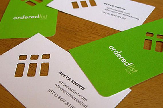 Stylish white and green ordered list business cards design with one stylish white and green ordered list business cards design with one rounded corner and a die cheaphphosting Images