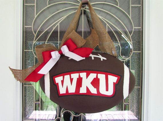It S Getting Close To Football Season This Would Be The Perfect Fall Decor For Your Front Door At College Suites Western K Holiday Crafts Crafts Cute Crafts